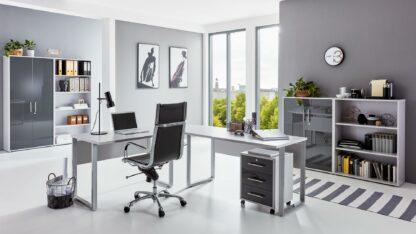 Büroeinrichtung OFFICE EDITION Büromöbel Set 1 lichtgrau anthrazit