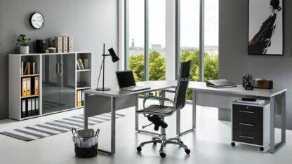 Büro-Set OFFICE EDITION 2 lichtgrau anthrazit