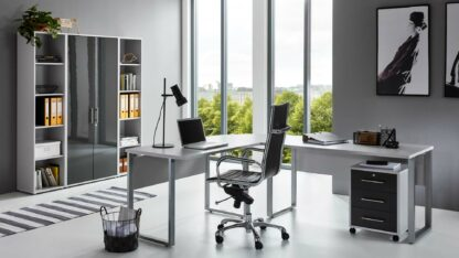 OFFICE EDITION Büromöbel Set 3lichtgrau anthrazit